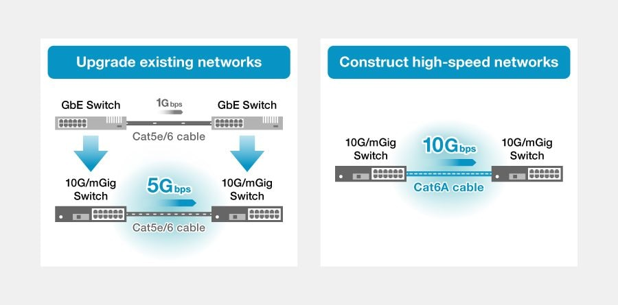 1. Creation of networks with high speed and capacity that exceed 1Gbps Ethernet